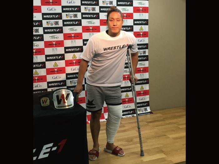 「自分自身気付かされたことがあった。もう一度闘いたい」 イケメン、左膝の靭帯損傷で欠場も、CIMAとの再戦には意欲! ■2018.9.3WRESTLE-1記者会見②
